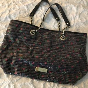 Betsey Johnson sequin tote